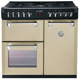 Stoves Richmond 900DFT 90cm Dual Fuel Range Cooker Champagne-Appliance People