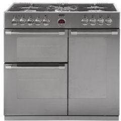Stoves Sterling 900DFT 90cm Dual Fuel Range Cooker Stainless Steel-Appliance People