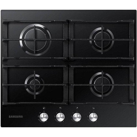 Samsung NA64H3000AK 4 Burner Gas on Glass Hob with Cast Iron Grates-Appliance People