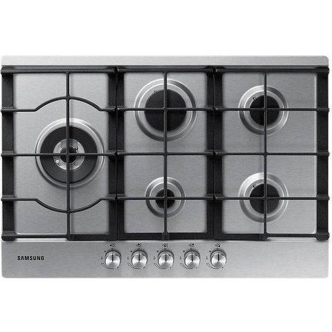 Samsung NA75J3030AS 5 Burner Gas Hob with Cast Iron Grates-Appliance People