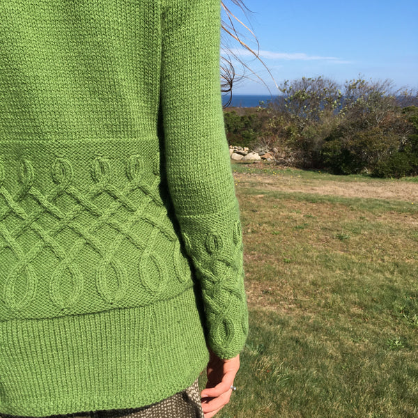 Lapham Cardigan knitting kit designed by Fiona Ellis