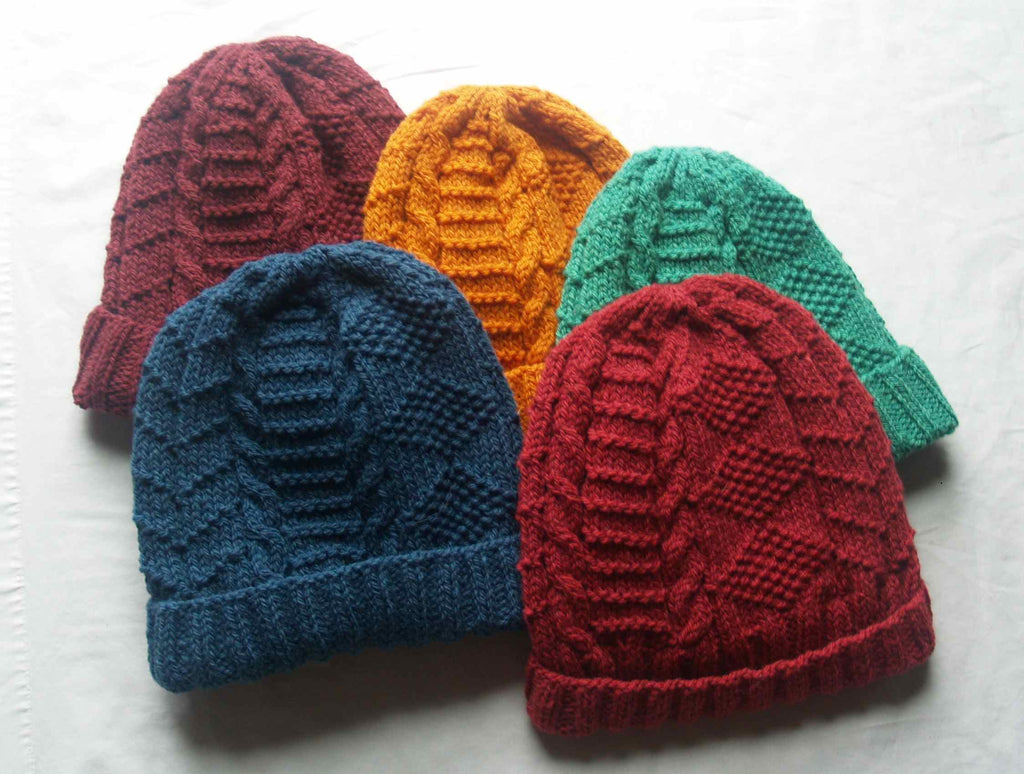 Block Island Gansey Knit Wear Hat designed by Deborah Newton