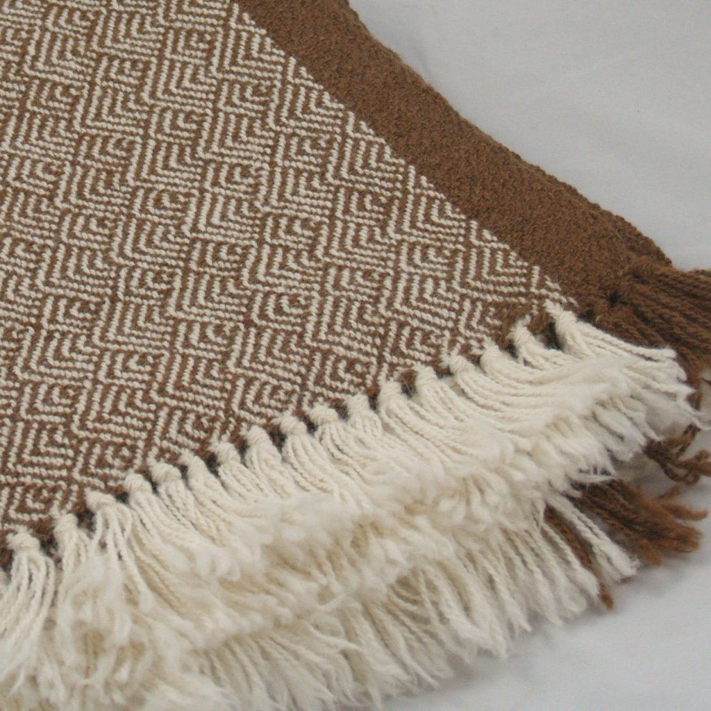 Block Island Brown Feather twill throw
