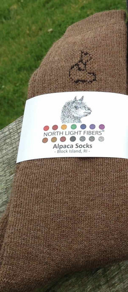 Men's Brown Alpaca socks