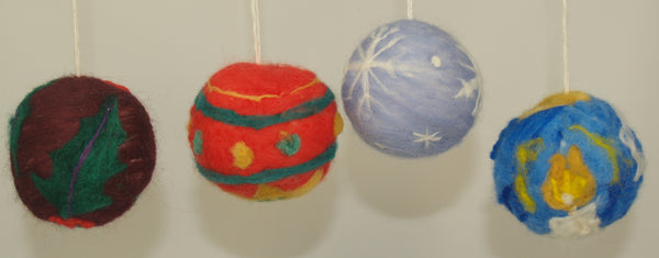 Holiday ornament felting kits