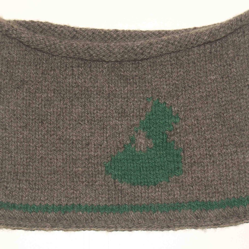 Block Island Cowl - Green on Grey