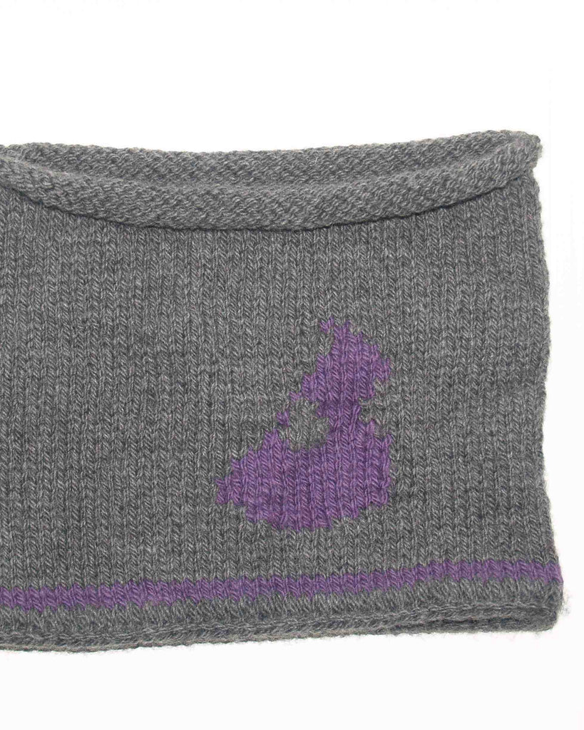 Block Island Cowl - Lilac on Grey