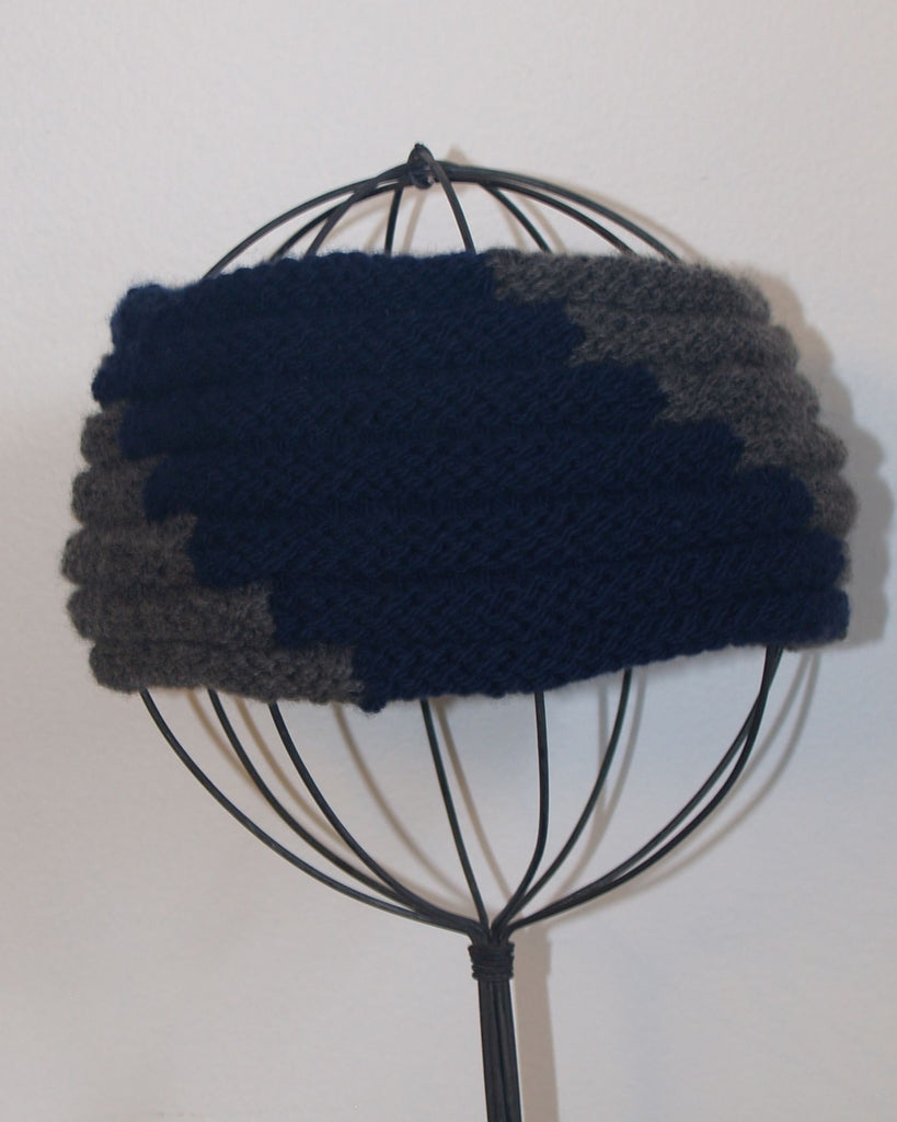 Block Island Headband - Navy and Grey