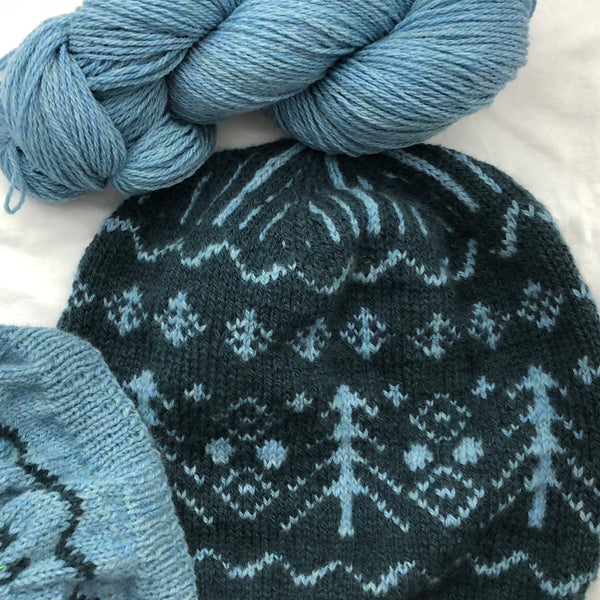 "Robin's Egg - Winter Squall Special - NEW Spring Street Color with FREE ""Winter Squall"" hat pattern and  FREE shipping"