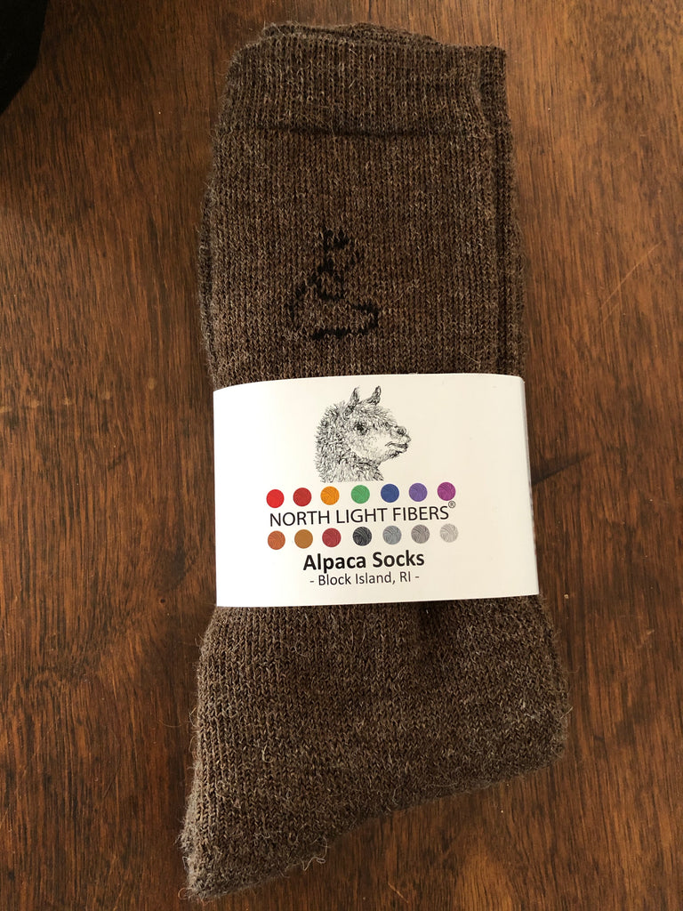 Large (Men's) Brown Alpaca socks