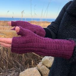 Benthic - Textured Fingerless Mitts Designed By Jen Lucas