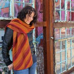 October Surprise - Spring Street shawl designed by Cynthia Cushing, Lakeside Yarns