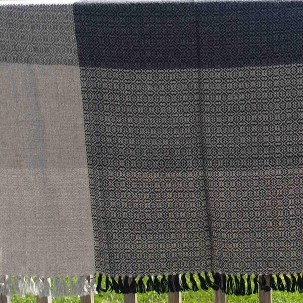 Block Island Alpaca Throw - Black/Grey Tones