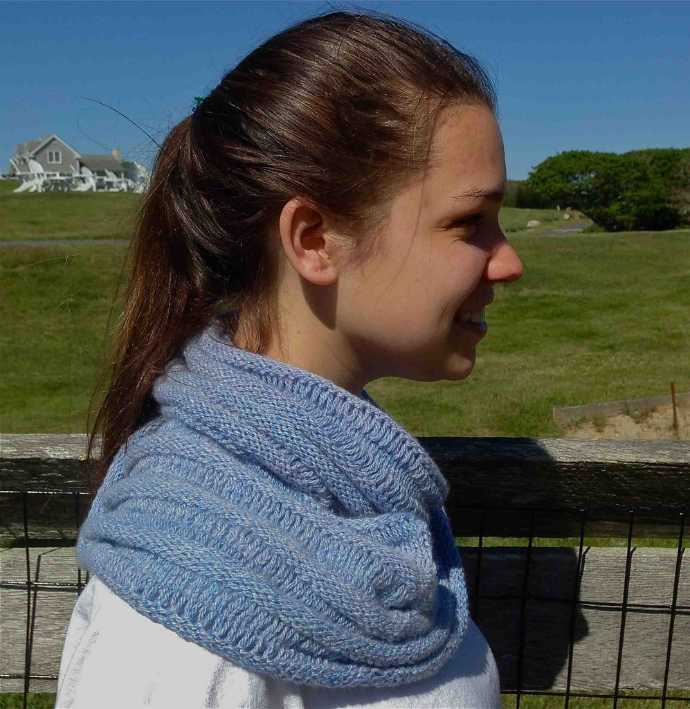 Ocean Ripples Infinity Scarf Knitting Kit Designed by Charles Gandy