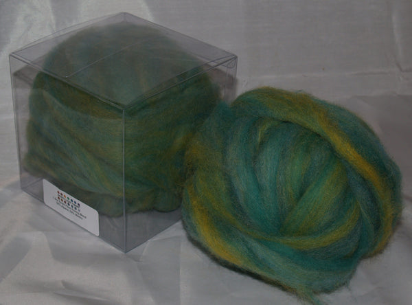 Rovings - Green Alpaca & Merino 1.5oz
