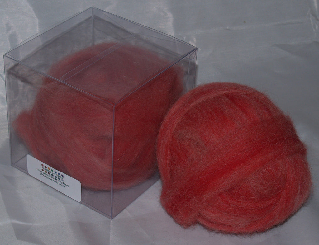 Rovings - Red Alpaca & Merino 1.5oz