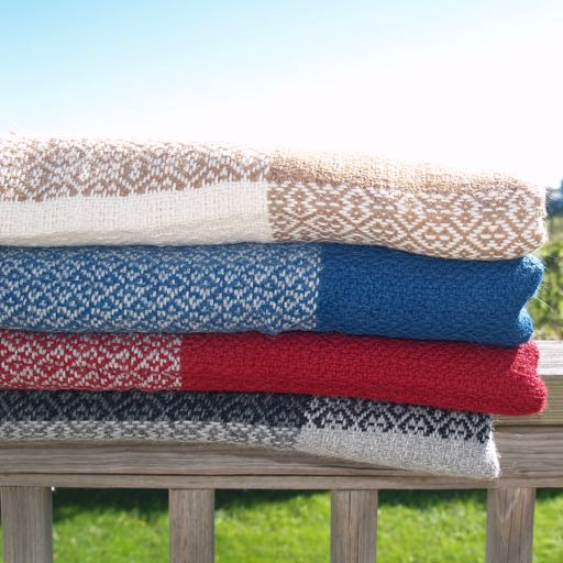 Block Island Alpaca Throw - Red