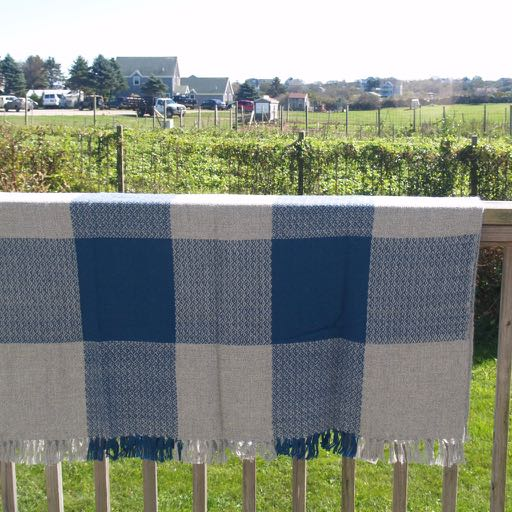Block Island Alpaca Throw - Blue
