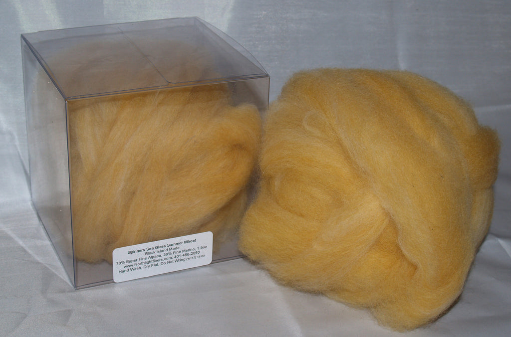 Rovings - Wheat Alpaca & Merino 1.5oz