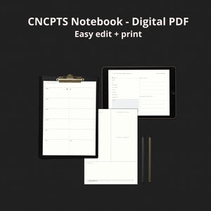 CNCPTS Notebook - Digital PDF