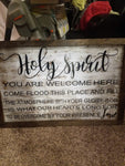 Holy Spirit Wooden Sign 36x24