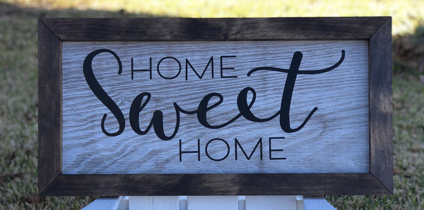 "Home Sweet Home sign 24""X12"""