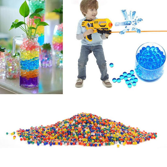colored 10000 pcs/packet soft crystal water paintball gun bullet
