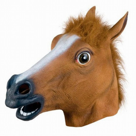 Costume Party Animal Head Mask Brown Horse