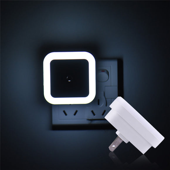 LED Light Induction Auto Sensor Bedroom Night Lights US Plug LED White Color