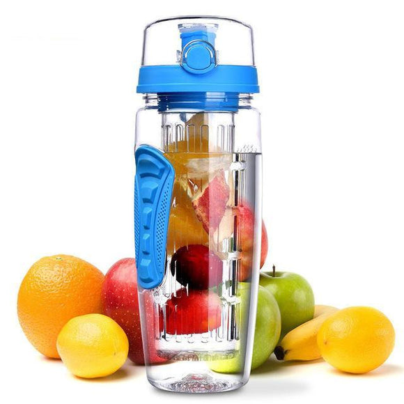 32oz 900ml Fruit Infuser Juice Shaker Sports Lemon Water Bottle