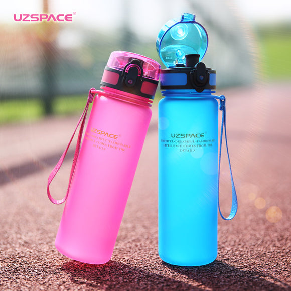 Sport Water Bottle  500ml~~1000ml Tritan Drinkware useful for protein shaker Camping Hiking