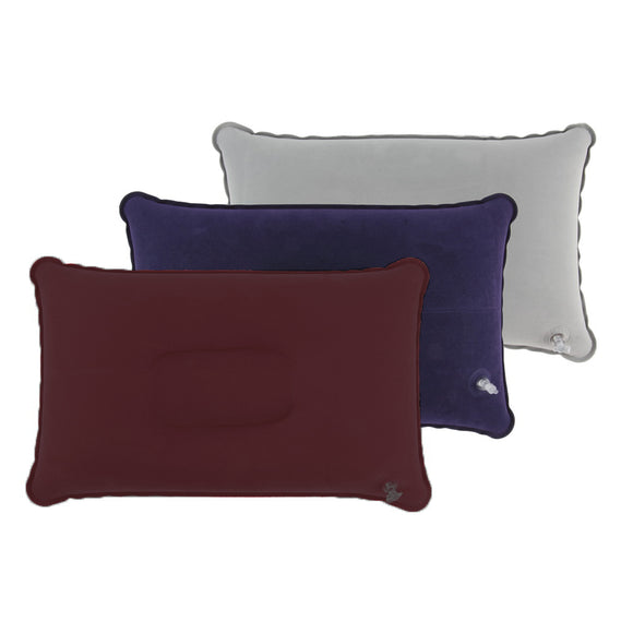 Outdoor Portable Folding Air Inflatable Pillow Double Sided Flocking Cushion