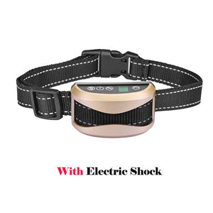 [2018] Bark Collar with Smart Detection Module - Dual Stop Anti-Barking Mode: Beep & Shock for Small, Medium, Large Dogs -  Waterproof - No Barking Collar