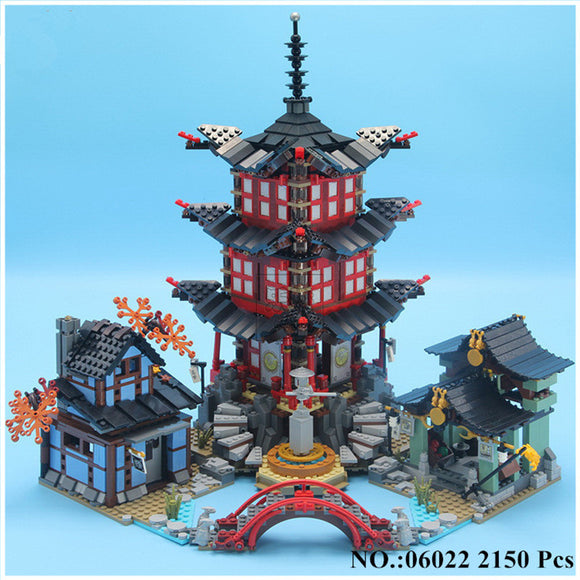 Ninja Temple of Airjitzu Jay Kai Cole Building Block 2150Pcs Bricks Toys Gifts lepin