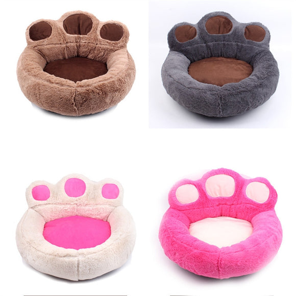 Bear's Paw Pet Bed (Puppy or Cat Kitten) Soft Warm Kennel Nest Sleep Mat Sofa Size S 56 x 52 cm