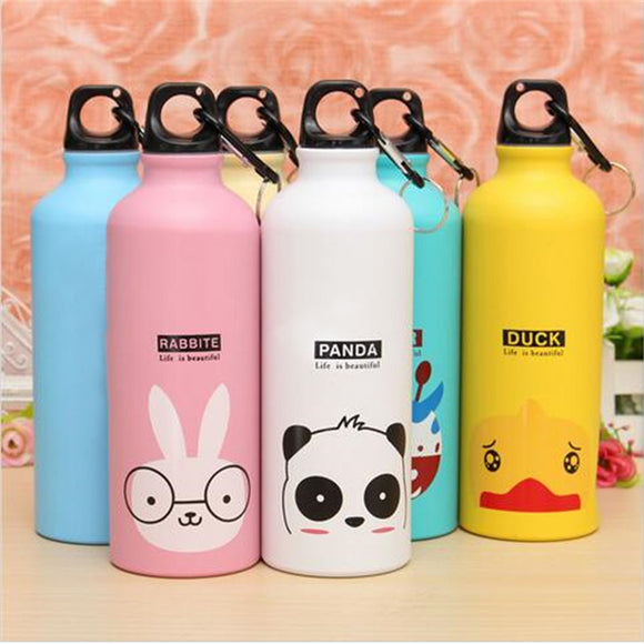 Anti-Crack cute printed Animals 500ml for Outdoor Portable Sports Aluminum water bottle or School kids Water Bottle
