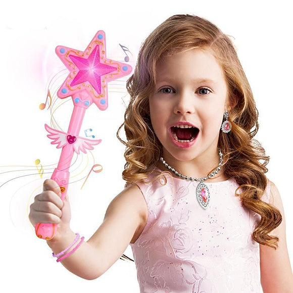 Girls Fairy Magic Wand with Flashing Light and Music Song Princess Game