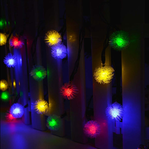 Waterproof String Solar Light Fairy Snowflake Outdoor Decoration