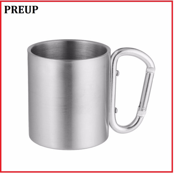 Durable anti-crack 220ml Stainless Steel Camping mug cold/hot usage