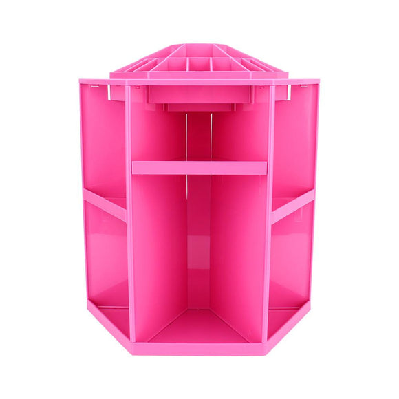 360 Degree Rotating Cosmetic Makeup Organizer,Tidy Organizer Cosmetic Display Brush Lipstick Storage Stand Box