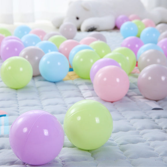 50 pcs Light Colorful Plastic Ocean Ball 7cm for Kids Play Water Pool