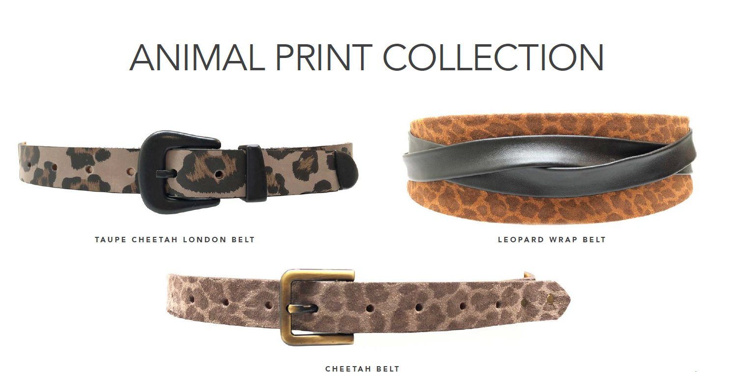 Shop Animal Print belts now