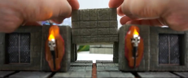 TERRAINO tabletop gaming terrain pieces are standardized, so the pieces you build today will work perfectly with pieces you build a year from now.