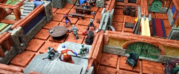 D&D tavern made with TERRAINO tabletop gaming terrain