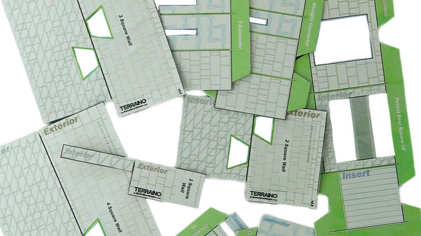 Included templates make creating TERRAINO tabletop gaming terrain fast and easy.