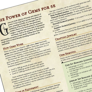 The Power of Gems for 5e