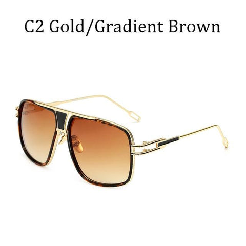 BBS Luxury Driving Sunglasses BIG Frame Sunglasses Bigboystores Gold/ Gradient Brown