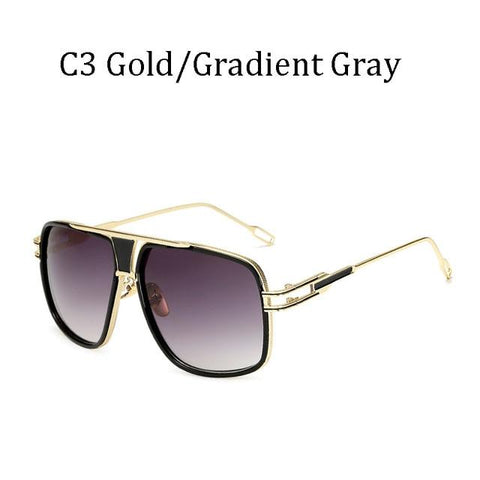 BBS Luxury Driving Sunglasses BIG Frame Sunglasses Bigboystores Gold/ Gradient Gray