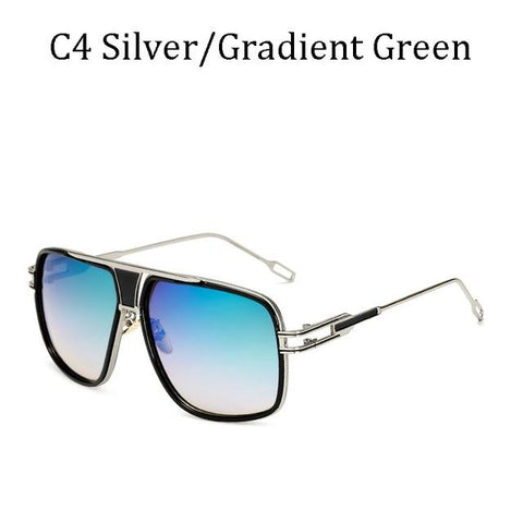 BBS Luxury Driving Sunglasses BIG Frame Sunglasses Bigboystores Silver/Gradient Green