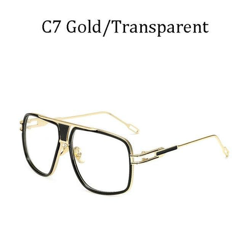 BBS Luxury Driving Sunglasses BIG Frame Sunglasses Bigboystores Gold/Transparent